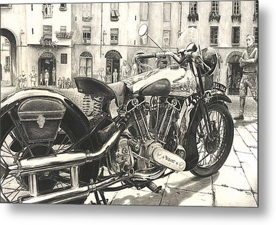 Brough Superior Ss 100 Metal Print by Norman Bean