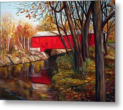 Brown County Bridge Metal Print by Dorothy Riley