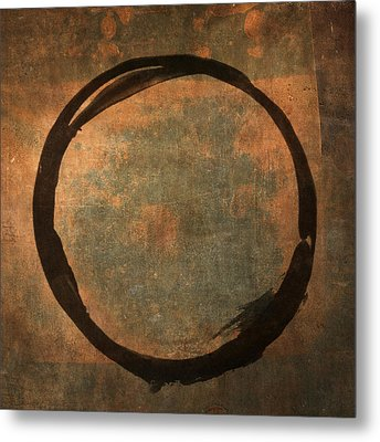 Brown Enso Metal Print