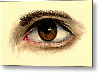 Brown Eye Metal Print