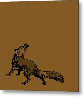 Brown Fox Metal Print by Karl Addison