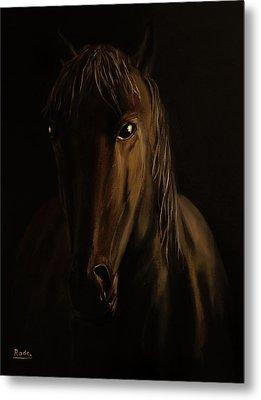Brown Horse Metal Print