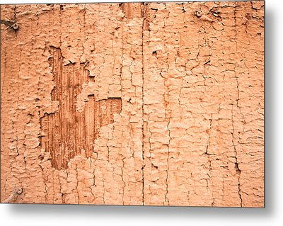 Brown Paint Texture Metal Print by John Williams