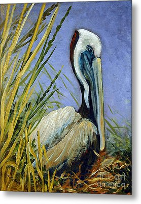 Metal Print featuring the painting Brownie Nesting by Suzanne McKee