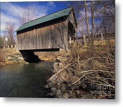 Brownsville Covered Bridge - Brownsville Vermont Metal Print by Erin Paul Donovan