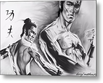 Bruce Lee Metal Print by Darryl Matthews