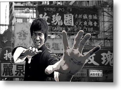 Bruce Lee Founder Of Jeet Kune Do Metal Print by Daniel Hagerman