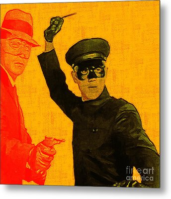 Bruce Lee Kato And The Green Hornet - Square Metal Print by Wingsdomain Art and Photography