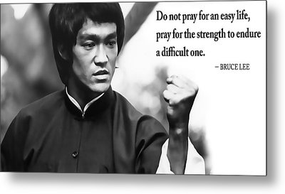 Bruce Lee On Enduring Life's Challenges Metal Print by Daniel Hagerman