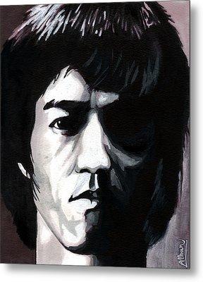 Bruce Lee Portrait Metal Print by Alban Dizdari