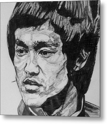 Bruce Lee Metal Print by Rachel Natalie Rawlins