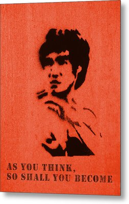 Bruce Lee - So Shall You Become Metal Print by Richard Reeve