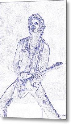 Bruce Springsteen Born In The Usa Metal Print by Lulu Escudero