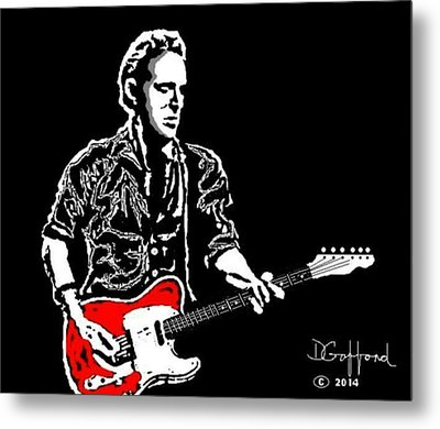 Bruce Springsteen Metal Print by Dave Gafford
