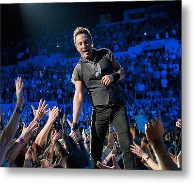 Bruce Springsteen La Sports Arena Metal Print by Jeff Ross