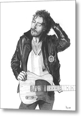 Bruce Springsteen Metal Print by Russell Griffenberg
