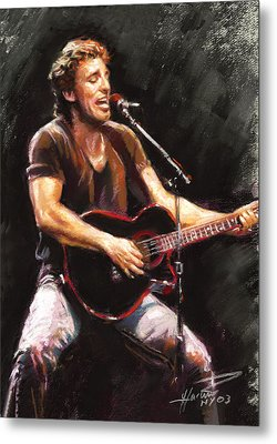 Bruce Springsteen  Metal Print by Ylli Haruni