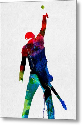Bruce Watercolor Metal Print by Naxart Studio