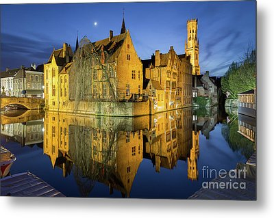 Brugge Twilight Metal Print by JR Photography