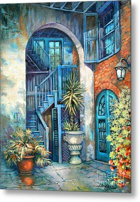 Brulatour Courtyard Metal Print by Dianne Parks