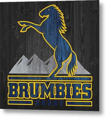 Brumbies Graphic Barn Door Metal Print by Dan Sproul