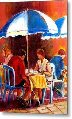 Brunch At The Ritz Metal Print by Carole Spandau