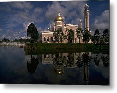 Brunei Mosque Metal Print by Travel Pics