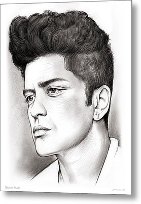 Bruno Mars Metal Print by Greg Joens
