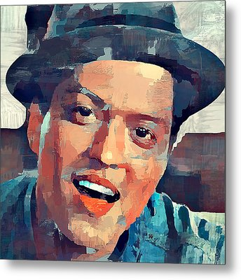 Bruno Mars Portrait Metal Print
