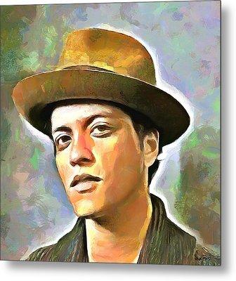 Bruno Mars Metal Print by Wayne Pascall