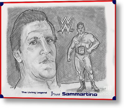 Bruno Sammartino The Living Legend Metal Print by Chris  DelVecchio