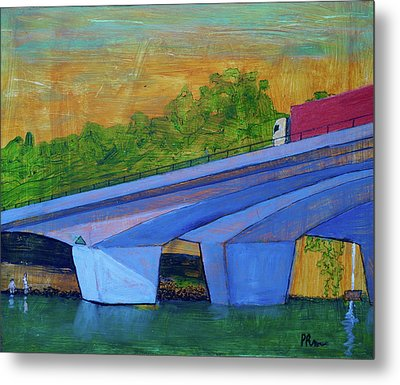 Brunswick River Bridge Metal Print