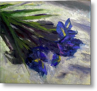 Brush Flowers #1 Metal Print by Brian Kardell
