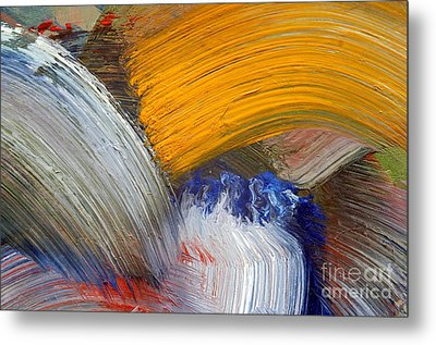 Brush Strokes Metal Print by Michal Boubin