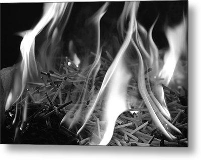 Brushfire 3 Metal Print by Sumit Mehndiratta