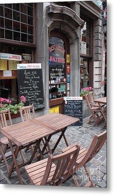 Brussels - Restaurant Chez Patrick Metal Print by Carol Groenen