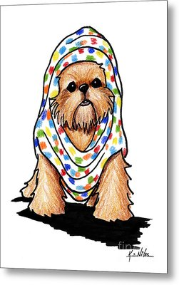 Brussels Griffon Beauty Metal Print by Kim Niles