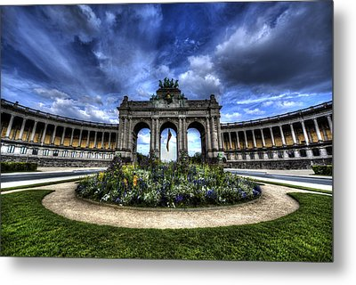 Metal Print featuring the photograph Brussels Parc Du Cinquantenaire by Shawn Everhart