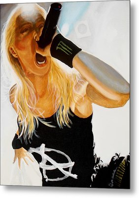 Brutal Metal Queen Metal Print by Al  Molina