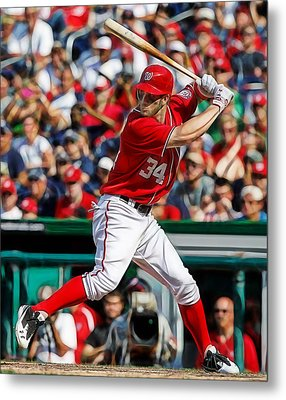 Bryce Harper Washington Nationals Metal Print by Marvin Blaine