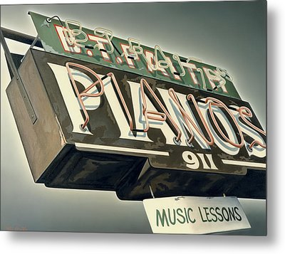B.t.faith Pianos Metal Print by Van Cordle