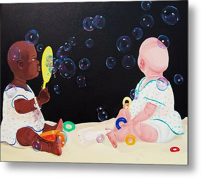 Bubble Babies Metal Print by Susan Roberts