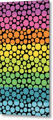 Bubble Rainbow Metal Print