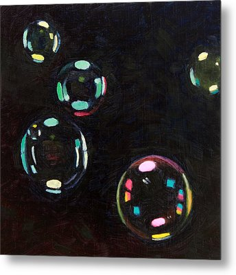 Bubble Study 01 Metal Print by Guenevere Schwien