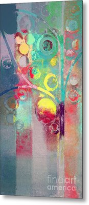 Metal Print featuring the painting Bubble Tree - 285l by Variance Collections