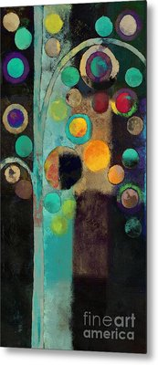 Bubble Tree - J122129155rv11 Metal Print by Variance Collections