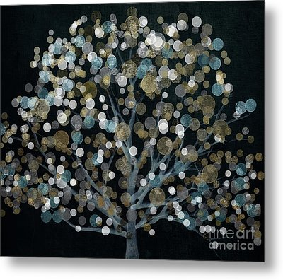 Bubble Tree Night Metal Print by Mindy Sommers