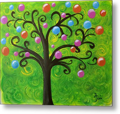 Bubble Tree Metal Print by Oiyee At Oystudio