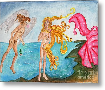 Bubblegum Angel And The Birth Of Venus Metal Print by Debbie Davidsohn