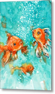 Bubbles Metal Print by Judith Levins